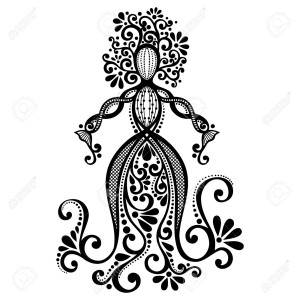 29778477-Vector-Hand-Drawing-Silhouette-of-Floral-Goddess-Patterned-Design-Stock-Vector